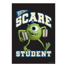 Shop Mike Scare Student 2 Classic Round Sticker created by disneypixarmonsters. Disney Movies, Disney Pixar, Mike And Sully, Disney Monsters, Mike Wazowski, Monster University, Round Stickers, Chibi, Classroom