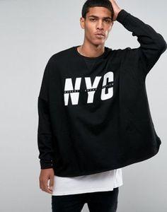 """ASOS - Extreme - Felpa oversize con scritta """"NYC"""""""