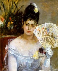 Berthe Morisot (French, At the Ball, Musée Marmottan Monet, París. Madame Morisot was one of the original French Impressionists and sister-in-law of Edouard manet. Edouard Manet, Pierre Auguste Renoir, Claude Monet, Wordsworth Classics, Berthe Morisot, Impressionist Artists, Anna Karenina, Camille Pissarro, Edgar Degas