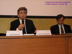 L' Agr. Roberto ORLANDI Presidente del Collegio Nazionale degli Agrotecnici e degli Agrotecnici laureati insieme all'Agr. Ezio CASALI Consigliere del Collegio Nazionale degli Agrotecnici.