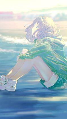 But nothing much has changed. Manga Anime Girl, Cool Anime Girl, Beautiful Anime Girl, Kawaii Anime Girl, Anime Love, Anime Girls, Kawaii Illustration, Japon Illustration, Cartoon Kunst