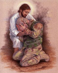 Jesus With Soldier Catholic picture - print