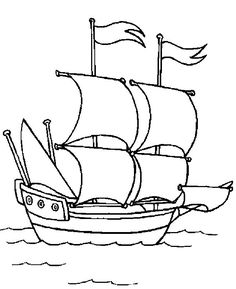 Dibujos para colorear: Barcos de velas.