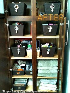 Simply Savvy Linen closet client after picture