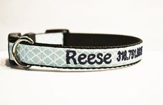 This dog collar is handmade using aqua moroccan ribbon. Webbing is used to make the collar strong. Good quality hardware is used (black buckle) and