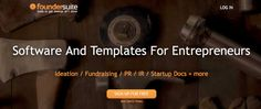 Foundersuite makes tools to help entrepreneurs and startups get ahead and stay successful. Startups, Fundraising, Entrepreneur, Software, Success, Templates, Tools, Running, Business