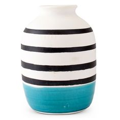 hand painted squiggle vase modern art circus vase. furbish.com $36
