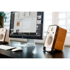 Make an easy transition from work to weekend with the #Hampden #desktopspeakers.