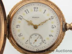 Massive 18s Elgin Fancy Dial Antique Hunter Mens Pocket Watch #Elgin