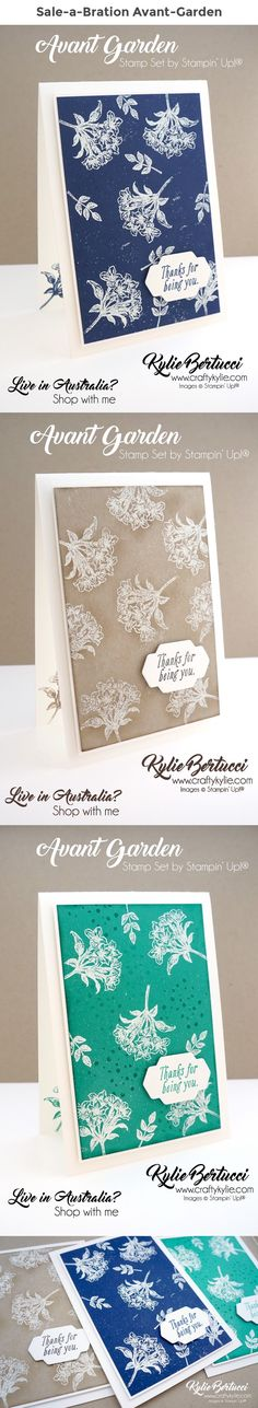 Kylie Bertucci - Avant-Garden Sale-a-Bration 2017. Click on the picture to see an AMAZING blog hop. #Stampinup #cardmaking #handmadecard #rubberstamps #stamping #kyliebertucci #saleabration2017