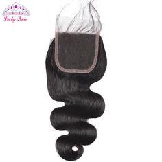 Lucky Queen Hair Products Malaysian Virgin Hair Closure Body Wave Virgin Malaysian Closure with Baby Hair 4*4 Human Hair Closure
