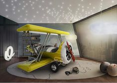 This airplane bed is pretty spectacular Via @circu_magical_furniture