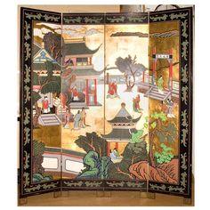 Small 4 panel Chinese coromandel screen.