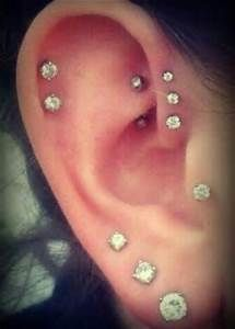 Considering a rook and or triple forward helix (or both) to add to my tragus piercing. Let's not even think about the tattoos I want to add to my collection. Different Ear Piercings, Cute Ear Piercings, Piercings For Girls, Multiple Ear Piercings, Types Of Piercings, Unique Piercings, Triple Ear Piercing, Piercing Tragus, Ear Peircings