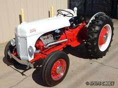 Spud's Garage - 1952 Ford Tractor Conversion - For Sale Ford Tractors For Sale, 8n Ford Tractor, Big Tractors, Old Ford Trucks, Lifted Chevy Trucks, Pickup Trucks, Old Farm Equipment, Heavy Equipment, Antique Tractors