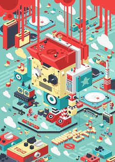 PIXICUBE/ music city by D.PEIN , via Behance