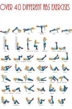 40 different ab exercises