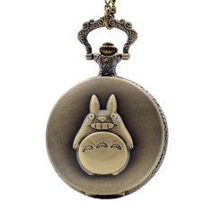 My Neighbor Totoro Quartz Pocket Watch //Price: $12.99 & FREE Shipping //   #uzumakinaruto #anime