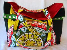Psychedelic  Large Tote Extra Large Tote BAG by BAGSbyMartha, $55.00