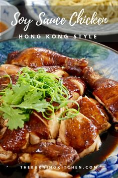 If you love Hainanese chicken rice then you MUST try this equally delicious and easy-to-prepare Cantonese braised soya sauce chicken. Only 20 minutes active time to make! via The Burning Kitchen Soya Sauce Chicken, Soy Chicken, Braised Chicken, Chinese Chicken, Chicken Recipes, Soy Sauce, Asian Whole Chicken Recipe, Hong Kong Chicken Recipe, Soya Sauce Recipe