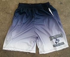 Blue Lacrosse Shorts with the dip dye fade from Lightning Wear.  Made to last in Kensington, MD USA.