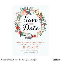 Botanical Wreath Save the Date