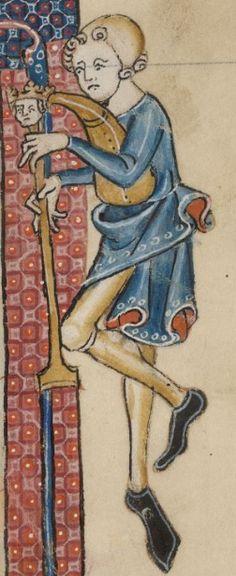 Doedelzak. The Luttrell Psalter 1325-1340