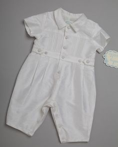 Silk Christening Romper for your baby boy....