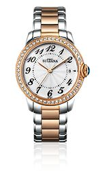 Model 374203 Ladies Sultana watch Stainless steel and rose gold plated Rose Gold Plates, Rolex Watches, Jewelry Making, Engagement Rings, Jewels, Diamond, Stainless Steel, Accessories, Model