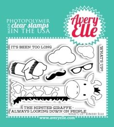 Avery Elle Clear Stamps WHAT'S UP Set 020740