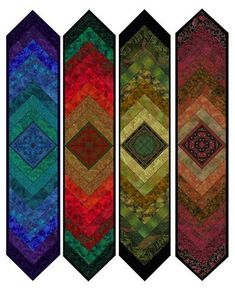 Medallion table runners, braded design with center medallion, at Jinny Beyer Quilting