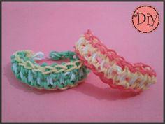 Más diseños de Rainbow Loom: Aprendemos el modelo sol Rainbow Loom Patterns, Loom Craft, Rubber Band Bracelet, Rainbow Loom Bracelets, So Creative, Loom Bands, Rubber Bands, Diy Jewelry, Projects To Try
