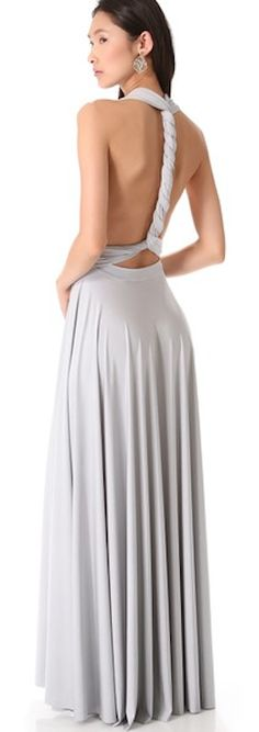 Twobirds Convertible Maxi Dress - A versatile maxi dress that can be worn more than 15 ways. Extra-long sashes wrap and twist to create a truly unique look. Wedding Party Dresses, Bridesmaid Dresses, Maxi Dresses, Lavender Bridesmaid, Wedding Attire, Prom Dress, Formal Dresses, Grey Fashion, Fashion Design