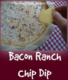 Easy+Real+Food+Bacon+Ranch+Chip+Dip