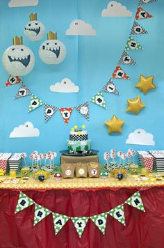 Mario Theme: The Sweets Table   CatchMyParty.com