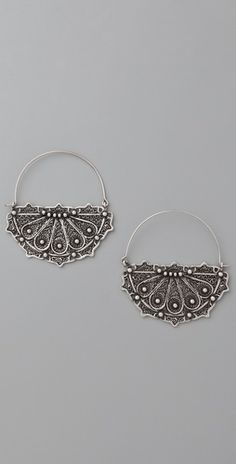 Moroccan hoop earrings. Gorgeous details.