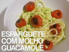 Esparguete com Molho Guacamole