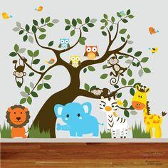Baby Vinyl Wall Decal Nursery Jungle Wall by nurserywalldecal