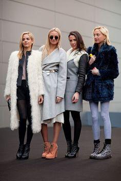 Jenna, Virginie, Prisca, and Claire Courtin-Clarins