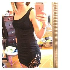 Tobi lace cut out dress Very cute black lace cut out Tobi dress, worn once Tobi Dresses Mini