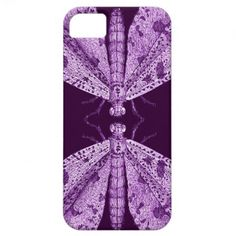 Two Moths Communicating - Deep Purple Strange and Unique iPhone 5 case