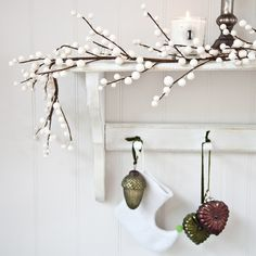 The tree with the white cotton balls is lovely for christmas decorations and is probably easy to make.