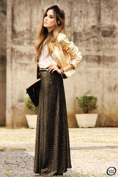 Look Du Jour: Black & Gold  with