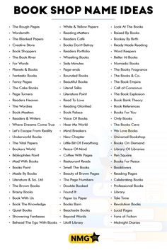 Find out your favorite bookstore names ideas in this list of bookshop names. You can also generate more bookstore names with the bookstore name generator. Store Names Ideas, Shop Name Ideas, Coffee Names, Coffee And Books, Business Slogans, Business Names, Club Name Generator, Book Club Names, Paper Reader