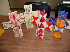 Stand-up Cross craft - Possibly for Elevation of the Holy Cross Sunday during Great and Holy Lent or another feast day of the Holy Cross