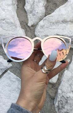 4080461a0641 TopFoxx Sunglasses - Kitty Kat in Rose Gold Rose Gold Jewelry