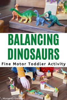 Help your toddler work those fine motor muscles without ever realizing it! Small dinos, wooden blocks, and a big imagination get it done in this activity! Fine Motor Activities For Kids, Early Learning Activities, Preschool Lessons, Toddler Learning, Toddler Preschool, Toddler Activities, Toddler Play, Fine Motor Activity, Toddler Teacher