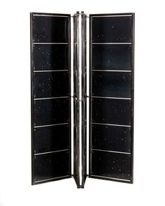 For Sale on 1stdibs - Derived from the constellations of the Equatorial region, this shoji screen is made of blackened steel panels and frame with bronze hardware accents. This