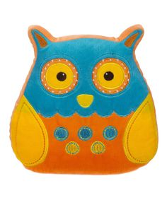 Rest a little darling's noggin on this plush pillow to have them taking flight into a clear sky full of dreams. With bright colors and an adorable design, it's sure to become a sweetie's favorite cuddle buddy. Baby Owl Nursery, Baby Owls, Orange And Turquoise, Blue Yellow, Owl Pillow, Plush Pillow, Happy Owl, Cuddle Buddy, Felt Fabric