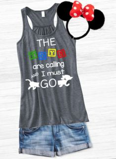 Toy Story Land Shirt The toys are calling and I must GO Toy Story Land Shirt, Toy Story tank, Disney tank, Disney Hollywood Studios tank Disney Tanks, Disney Diy, Cute Disney, Disney Style, Etsy Disney Shirts, Disney Vacation Shirts, Disney Vacations, Disneyland Trip, Disney Ideas